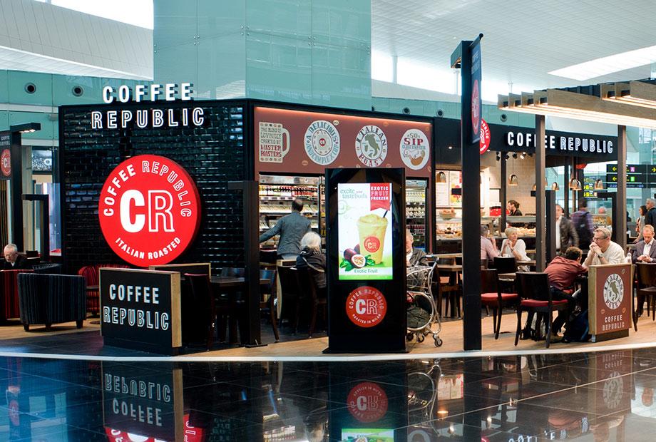 Coffe Republic en aeropuerto