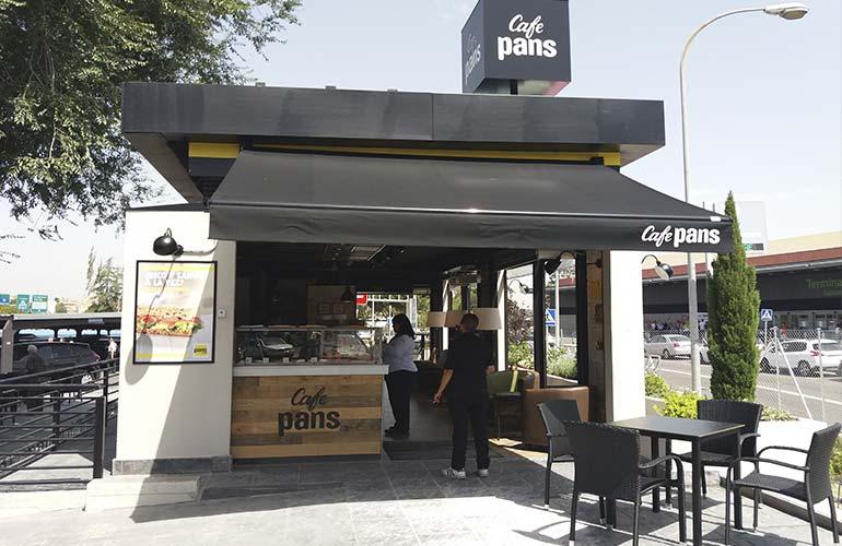 """Pans & Company abre su primera franquicia """"Café Pans"""" en<br/> el Aeropuerto de Madrid Barajas"""